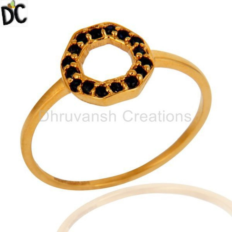 Solid Gold Blue Sapphire Gemstone Ring Jewelry Manufacturer & Supplier