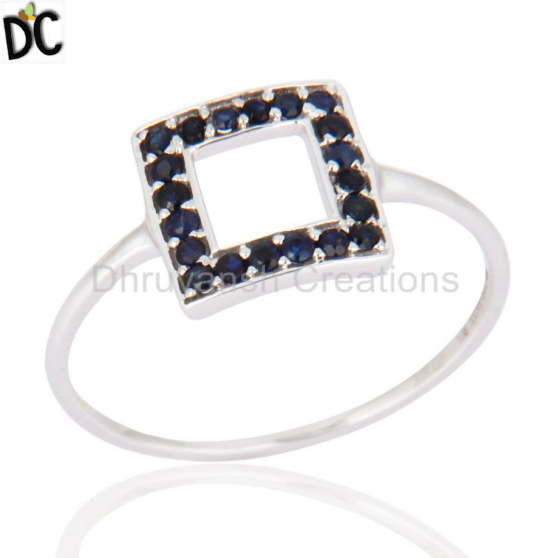 Sapphire Gemstone Solid Gold Ring Jewelry Manufacturer And wholesaler
