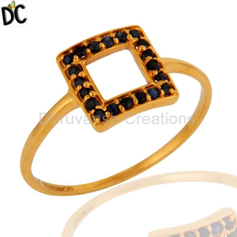 Solid Gold Sapphire Gemstone Ring Manufacturer of Solid Gold Jewelry