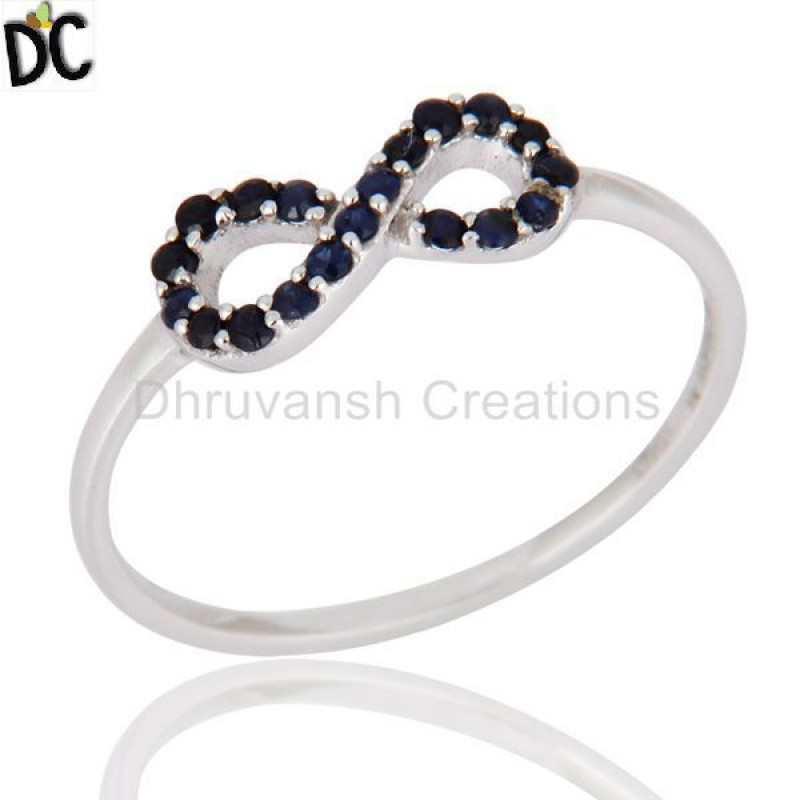 Sapphire Blue Gemstone Gold Ring Wholesaler of Solid Gold Jewelry