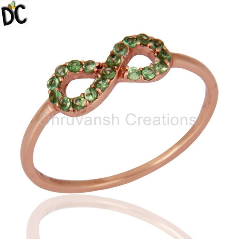 Solid Gold Tsavorite And Garnet Gemstone Ring Jewelry Manufacturer