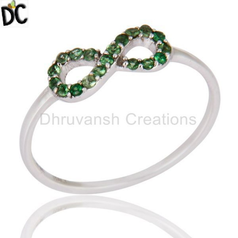 Garnet And Tsavorite Gemstone Ring Manufacturer of Solid Gold Jewelry