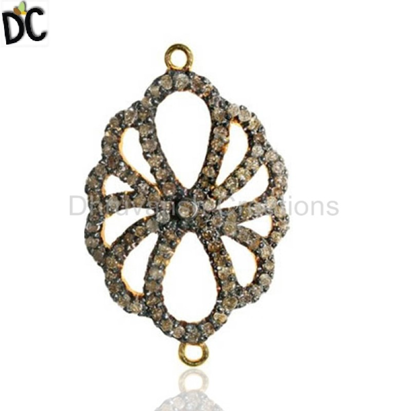 Pave Diamond Gold Silver Jewelry Findings Manufacturers from India