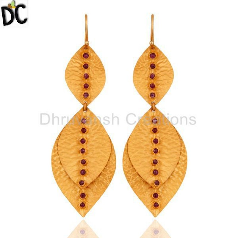 925 Silver Ruby Gemstone Earring jewelry Wholesaler And Manufacturer