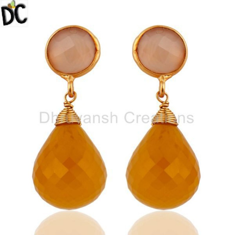 CHALCEDONY DYED ROSE,CHALCEDONY DYED YELLOW