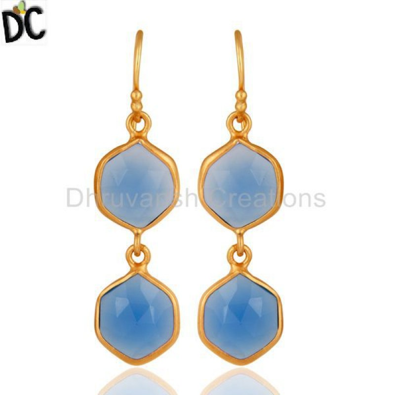 CHALCEDONY DYED BLUE